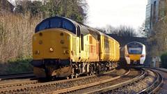 37521 Dollands Moor Sidings to Derby R.T.C. Network Rail 3Z05 (train_photos) Tags: 37521 dollandsmoor derby networkrail colasrail class37