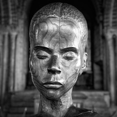 Head (MMiPhoto) Tags: durham cathedral worldheritage norman wear north east architecture fuji xt2 xf1024 mono monochrome