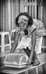 Cafe Waitress (Rod Waddington) Tags: africa african afrique afrika äthiopien adigrat ethiopia ethiopian ethnic etiopia ethnicity ethiopie etiopian tigray cafe waitress woman blackandwhite streetphotography street