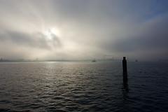 Frühnebel II (kuestenkind) Tags: kiel kran förde binnenförde fähre nebel fog northgermany ostsee balticsea