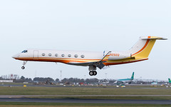 N282Q 2005 GULFSTREAM AEROSPACE GV-SP (G550) Landing at Dublin GP Management CO  (1 of 1) (Conor O'Flaherty) Tags: dublinairport dub eidw dublin airport aviation jet plane business private bizjet n282q gulfstream g550 landing
