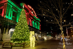 December 23, 2018 - Union Station decked out in holiday colors. (Tony's Takes)