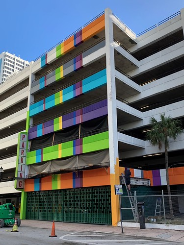 SunTrust Parking Garage Getting Mural Downtown Miami