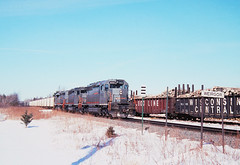 Downtown Weirgor (view2share) Tags: gcfx6050 gcfx6061 gcfx6052 gcfx gecalstrom gec alstrom sd40 sd402 weirgor wi wisconsin winter emd electromotivedivision engine siding sidetrack pulpwood sooline soolinerailroad wc wisconsincentral woods westernwisconsin northwoods northwood minorca escanaba leaser lease southbound eastbound unittrain ore oretrain orepellets cn canadiannational cold deansauvola railway railroading rr railroads rail rails railroaders rring railroad roadtrip freighttrain freight freightcars freightcar gondola february152003 february2003 february 2003 superiorsub