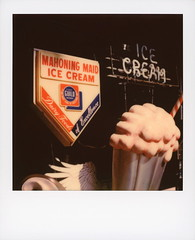 Mahoning Maid (tobysx70) Tags: polaroid originals color sx70 instant film sx70sonar sonar mahoning maid hollywood blvd boulevard los angeles la california ca ice cream neon sign dairy foods of excellence movie set dressing toby hancock photography