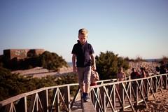 David... (hobbit68) Tags: fujifilm xt2 children child sonne son sohn spanien spiegelung geländer steg bunker himmel sky espana espanol espagne kinder kind andalusien andalucia balance holiday holz urlaub