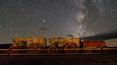 20 Mule Team Wagon and Milky Way (Jeffrey Sullivan) Tags: death valley national park landscape nature travel photography furnace creek california united states usa canon 5d mark iv photo copyright 2018 jeff sullivan october