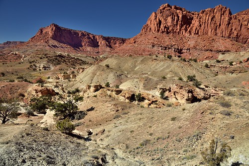 A Changing Landscape Seen While Hiking in Capitol Reef National Park