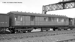 c.10/1964 - Dairycoates (50B) MPD, Hull, East Yorkshire. (53A Models) Tags: britishrailways lner breakdowntrain gresley gnr breakdowntrainunitstafftoolvan de320143 departmental dairycoates 50b mpd hull eastyorkshire train railway locomotive railroad