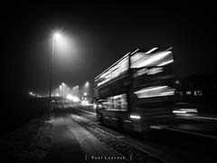 Night Bus (amipal) Tags: 175mm bus england fog gb greatbritain lightstreams lighttrails longexposure manuallens night saltdean sussex uk unitedkingdom voigtlander