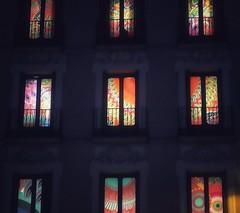 """Desigual"" building at night. Madrid (marisabosqued) Tags: desigual edificio building nocturna noche night colores colors luces lights madrid españa spain smartphone teléfonomóvil android huaweip10lite snapseed"