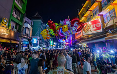 Bangkok, Khao san road (gubryel) Tags: bangkok thailand nightphotography streetphotography bangkokstreetphotography wideangle democracy khaosanroad flashstreetphotography nightlife bangkoknightlife