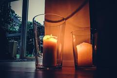 Autumn prep (Melissa Maples) Tags: ludwigsburg deutschland germany europe apple iphone iphonex cameraphone orange flames floor dusk evening candles