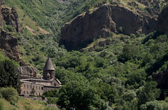 Geghard Monastery (cowyeow) Tags: armenia caucuses mountain nature composition landscape trees geghard monastery geghardmonastery old travel historical architecture orthodoxchristianity church