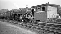 04/10/1964 - Winchester (City), Hampshire. (53A Models) Tags: britishrailways standard 7p6f 462 70000 britannia steam passenger lcgb vectisrailtour winchester city hampshire train railway locomotive railroad