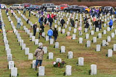 DSC_0279 (Fort Knox, KY) Tags: wreaths across america maj gen john evans jr christmas holidays kentucky veterans cemeterycentral radcliff fort knox audie murphy club donna betson cemetery gravestone interred dec15 2018 speech remarks commanding general cadet command cg sc volunteers cub scouts boy family families ceremony
