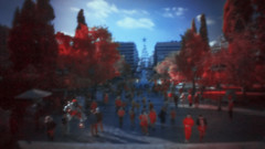 * (Timos L) Tags: people street life candid ir infrared syntagma square athens greece hellas christmas christmas2018 olympus ep1 pen timosl panasonic 1232mm pinhole pinwide wanderlust