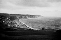 un village du bord de mer (asketoner) Tags: sea beach cliffs landscape nature town village city above from view point fog grain north france secret hidden