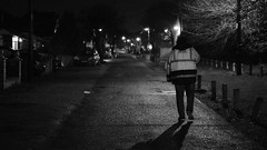 DSCF335911-10 PM (edesüket) Tags: night person man walk dark street city town lights fuji fujifilm xt3 photo photography shadow shadows blackandwhite bnw black white