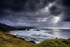 Oregon Coast Sea Stacks (suman.photo) Tags: sea stacks cloud water nature mountain nikon ocean coast grass landscape sky oregon