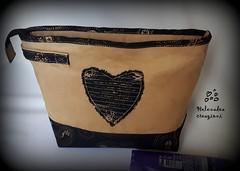 Organizer da viaggio (Helenadea) Tags: organizer cucito cosmetici viaggio borsa casecosmetic sewing handmde riciclaggio purse bolsa applique patchwork cosmeticbag