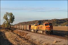 BNSF 6048 (Justin Hardecopf) Tags: bnsf burlingtonnorthernsantafe 6048 ge es44ac gevo coal loess hills pacific junction iowa railroad train