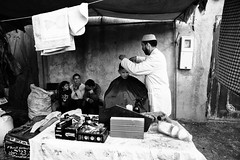 at the barbershop~ Morocco (~mimo~) Tags: africa berber magreb marrakech mimokhairphotography morocco northafrica photography street travel barber children hair cut market atlas mountin
