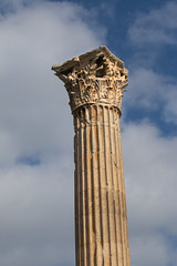 Greek Column (mopics347) Tags: ancient ruins greece athens athensgreece greek columns column marble outdoor sky clouds architecture templeofolympianzeus olympian zeus historic historical