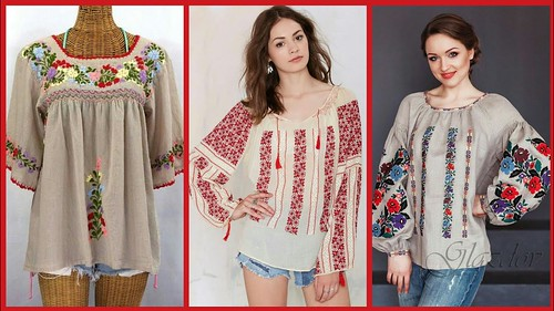 Latest Top Collection Of Embroidered Short Shirts Designs For Girls