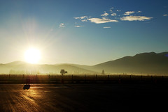 December sunrise (jimiliop) Tags: sun winter wet mist countryside trees reflections morning highway ontheroad peloponese greece sunrays nature
