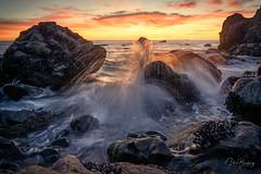 Golden Muir (sberkley123) Tags: z7 2470mm seastack surf millvalley longexposure waves muirbeach nikon usa california ocean sunset colors seascape sanfrancisco coast pacific marin