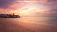 Marine Layers (Tim Drivas) Tags: sunset portugal nazare nazaré beach jetty longexposure sand water seascape landscape