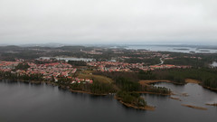 Red roofs in the grey November landscape (arton659) Tags: kuopio finland djispark drone island november grey landscape