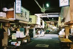 Tukiji market street (tripl8_i) Tags: tokyo tukiji 東京 築地市場 yashica electo35mc yashinondx 40mm28