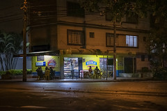 night moves... (J. Kaphan Studios) Tags: colombia2018 medellin colombia colorful colors city cityscape citylights citylife travel travelphotography traveler travelblogger letsgosomewhere nomad wanderlust journey nightphotography saturdaynight southamerica fujixseries fujifilm bars beer