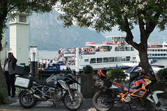 Ferry crossing (Dominic Sagar) Tags: 2017 adriatic alps europe ferry t100 t150 motorcycle bellagio lombardia italy it
