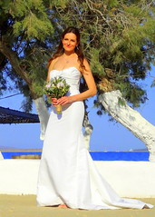 Beautiful Bride (dimaruss34) Tags: newyork brooklyn dmitriyfomenko image sky bride sea water tree horizon flowers beachhouseresort greece antiparos