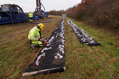Jordprøver fra 0 - 200 meters dybde (Steenjep) Tags: herning jylland jutland danmark denmark vand vandboring water waterdrilling drilling drill earth samples jord jordprøve ahøjfeldt