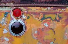(jtr27) Tags: dscf2911xl jtr27 fuji fujifilm xe2s vivitar 55mm f28 macro manualfocus old antique patina peelingpaint bus taillight