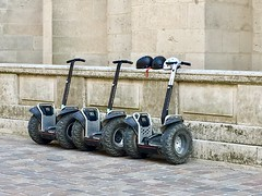 Continuation by foot (Antropoturista) Tags: france reims 3 three segway helmet
