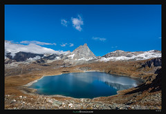 Big Blue Marble (Ilan Shacham) Tags: landscape view scenic beauty lake blue mountain cervino matterhorn sky cloud reflection turquoise mountainscape outdoors fineartphotography fineart italy cervinia lacgoillet