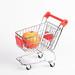 Apple fruit in shopping cart