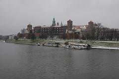 Wawel Castle, by the Vistula river (n.pantazis) Tags: bridge river vistula krakow castle wawel wawelcastle medieval water clouds cloudy cold snowwinter pentaxk70 sigma