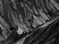 Dragon Tooth (azhukau) Tags: iceland mountainrange creek water monochrome rockobject blackandwhite travel outdoors summer thakgil þakgil mountain ridge beautyinnature canyon