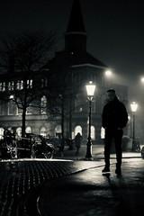 same night (claudia 222) Tags: noctilux night cold dark bw blackwhite amsterdam street monochrome people human stranger noir
