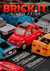 Brick.it magazine cover (gabriele.zannotti) Tags: cover lego car blender render 3d mecabricks fiat 500 ideas