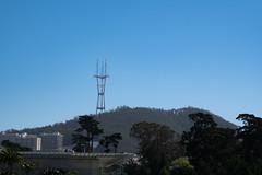 Looking down on you (Dominic Sagar) Tags: amy arlen felsen friends sanfrancisco antenna hill radio trees california unitedstates us