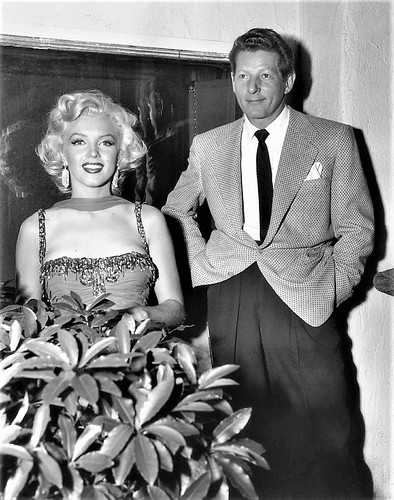 Marilyn Monroe performing at the Hollywood Bowl (St. Jude Hospital Benefit) here with Danny Kaye,   1953 BERNARD OF HOLLYWOOD (1912-1987)
