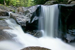Long View of some Small Falls (Northern Wolf Photography) Tags: 12mm em5 longexposure river rocks sugar trees water waterfall newport newhampshire unitedstates us