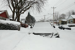 Mercedes (Jacques Lebleu) Tags: mercedes mercy snow car winter white tree